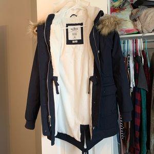Navy Hollister coat